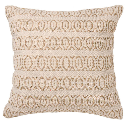 Chenille & Jute Handloom Cushion