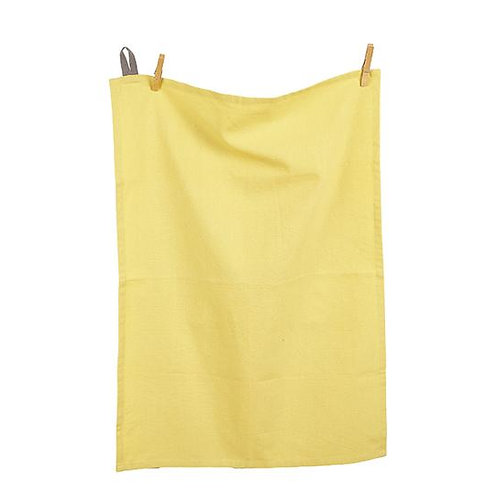 Cotton Tea Towel Tuscan Yellow