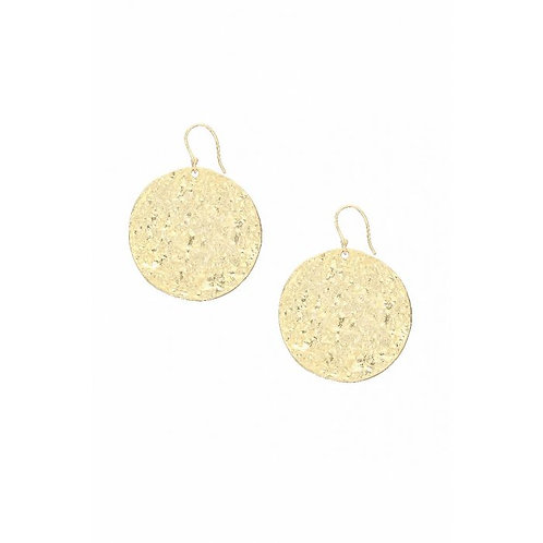 Harmonia Disc Earrings Gold