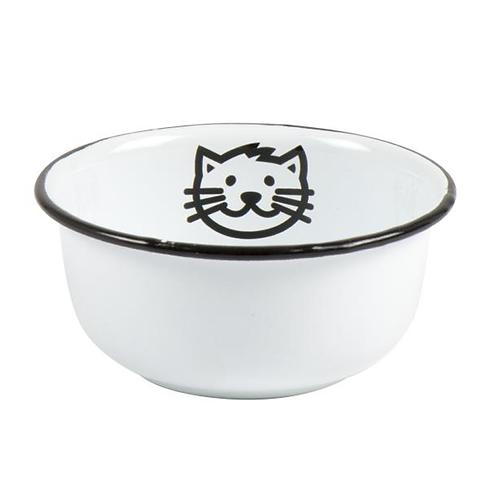 Enamel Cat Bowl