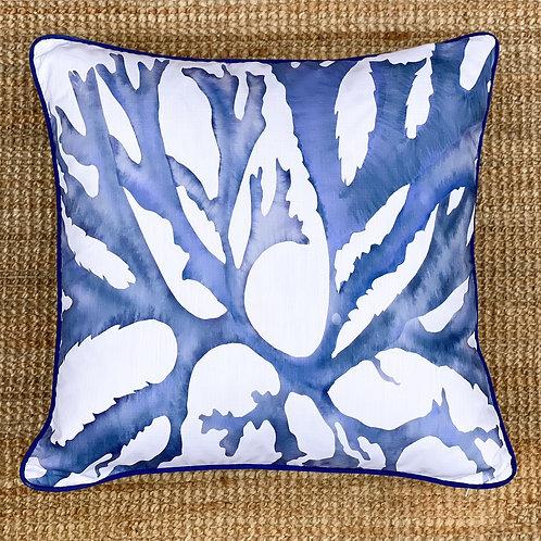 Indigo Seaweed Cushion II