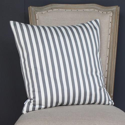 Striped Cushion Grey