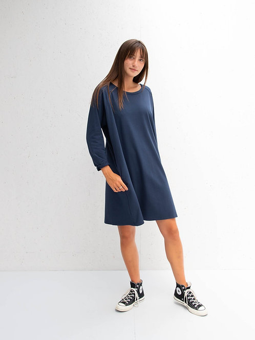 Long Sleeve Dress Navy