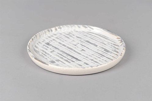 Glazed Ceramic Candle Plate