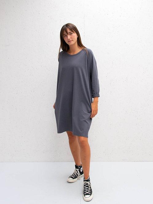Long Sleeve Dress Charcoal