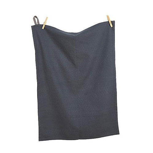 Cotton Tea Towel Gunmetal Grey