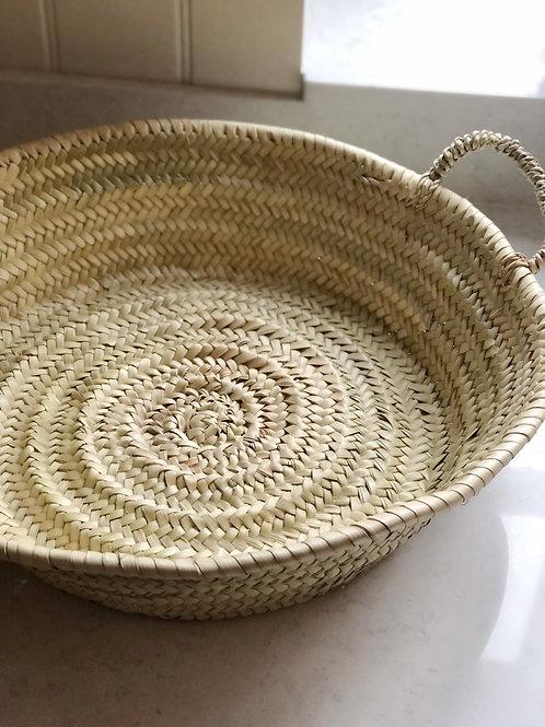 Deep Palm Basket with Handles