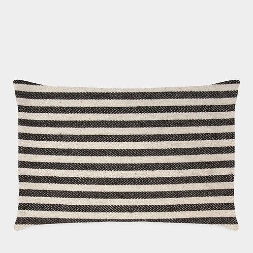 Black and White Stripe Cushion