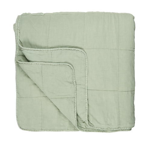 Quilted Bedspread Pale Green