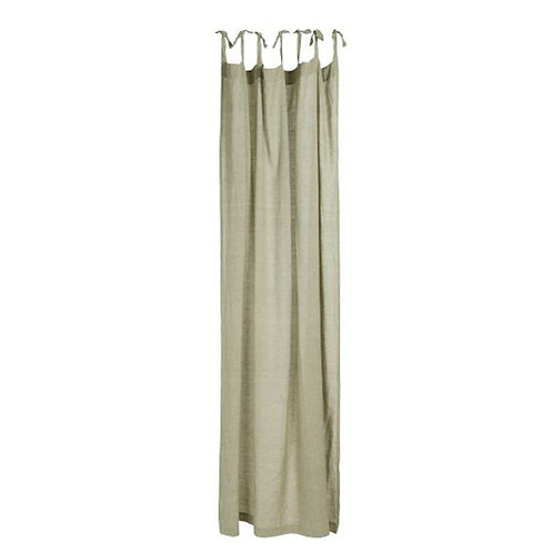 Cotton Tie Top Curtain Panel Khaki