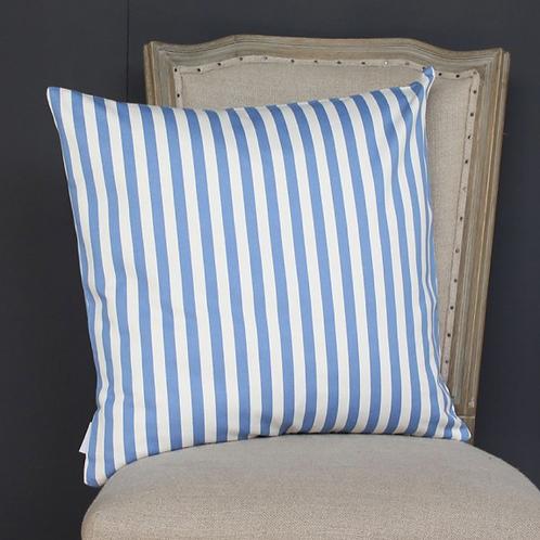 Striped Cushion Blue