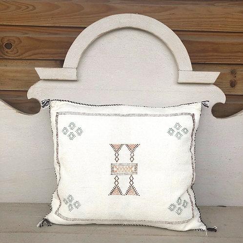 Cactus Silk Cushion White