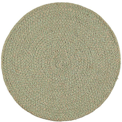 Round Jute Placemat Green