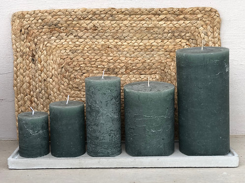 Rustic Candle Sea Green
