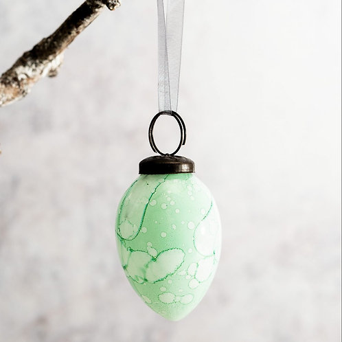 Mint Green Marble Bauble