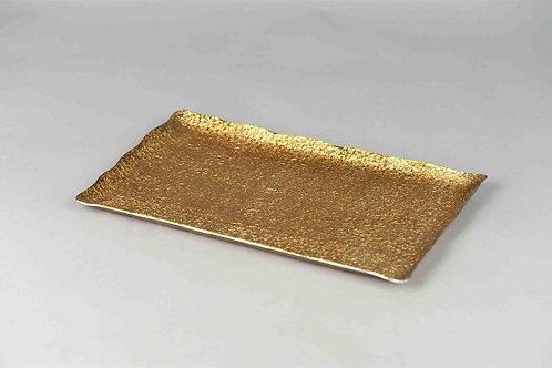 Hammered Golden Tray Rectangular