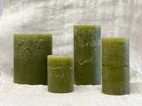Rustic Candle Forest Green