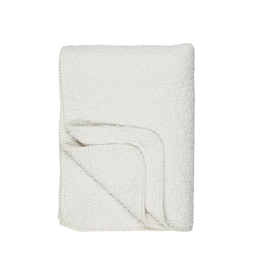 Cream Dotty Cotton Quilt