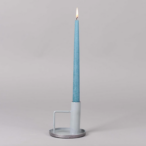Abstract Candle Holder Blue/Grey