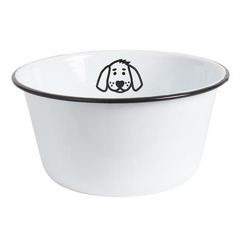 Enamel Dog Bowl Large