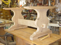 Custom Bur Oak table base284.JPG