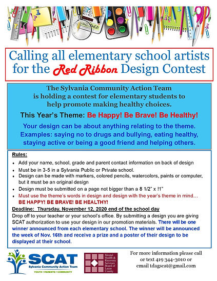 2020 Red Ribbon design contest flyer jpe