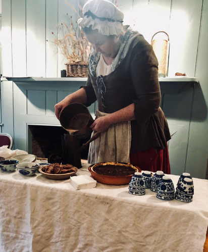 Making Colonial Hot Chocolate.JPG