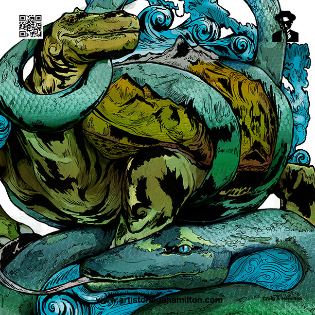 """Genbu, The Water Tortoise of The Northern Tides"""