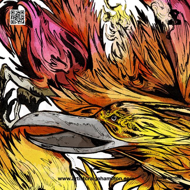 """Suzaku, The Vermillion Sparrow of The South"""