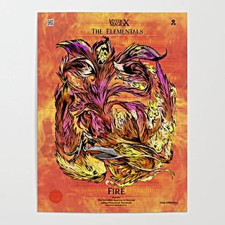 """Suzaku, The Vermillion Sparrow of The South"" Signature Series Original Art Poster"