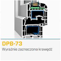 Przekrój okna DPB-73