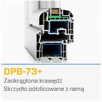 Przekrój okna DPB-73+