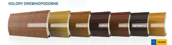 Kolory drewnopodobne rolet zewnętrznych