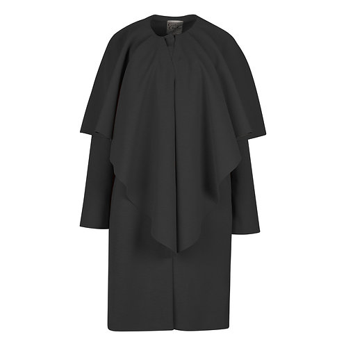 #018 - The Walton Ruffle Coat (Black)