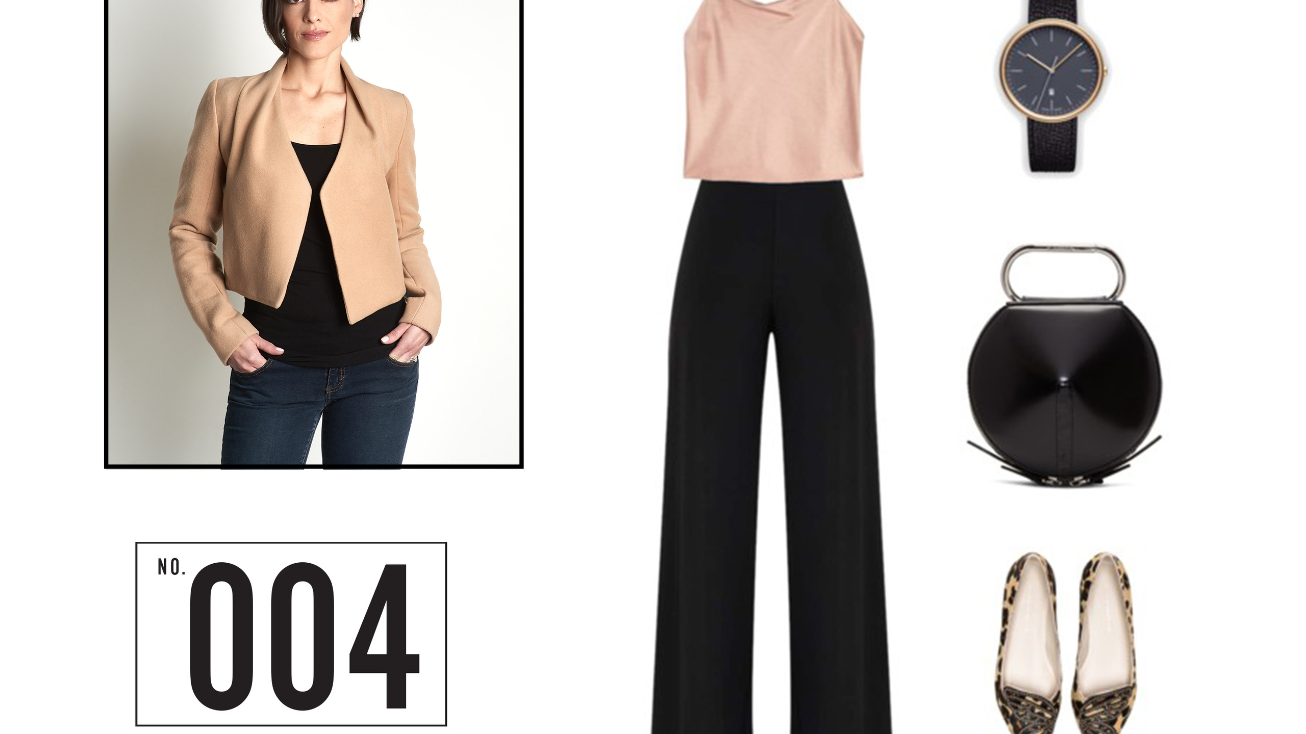 Wear it with a pair of hi-waisted wide leg trousers and stylish flats.