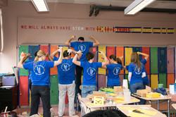 Volunteer School Painting