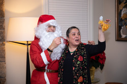 Santa gifting Gold