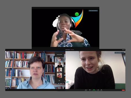 """We need to think bigger to jump far!"" Luisa Neubauer, Natasha Mwansa & Silja Graupe"