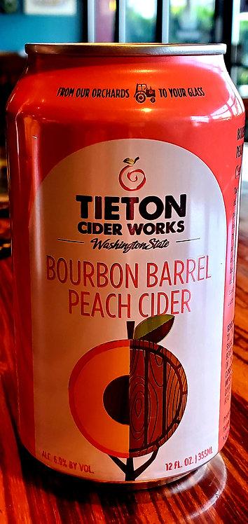 Tieton Bourbon Peach Cider 12oz