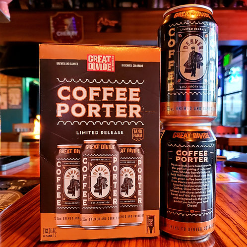 Great Divide Pablo's Coffee Porter 12/6pk