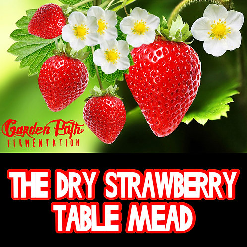 Garden Path The Dry Table Strawberry Mead 64oz