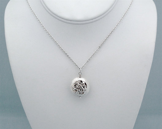 Sterling Etched Mesh Pendant