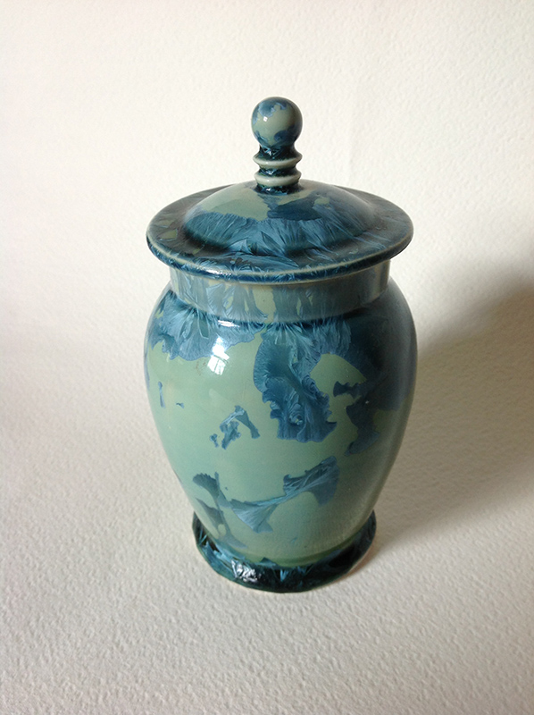 blue/green crystalline glaze form
