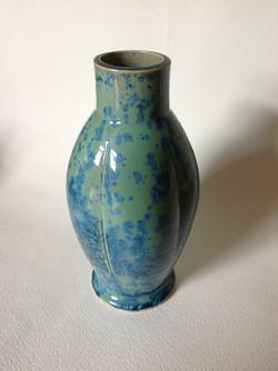 green/blue fluted vessel