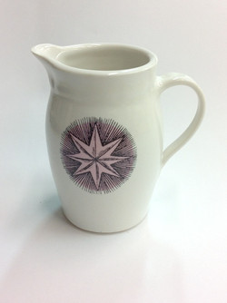 jug with pink stars
