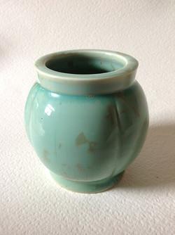 pale blue vessel