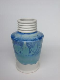 ribbed neck vase