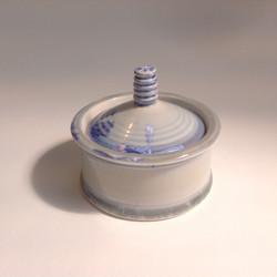 blue/grey crystalline glazed trinket