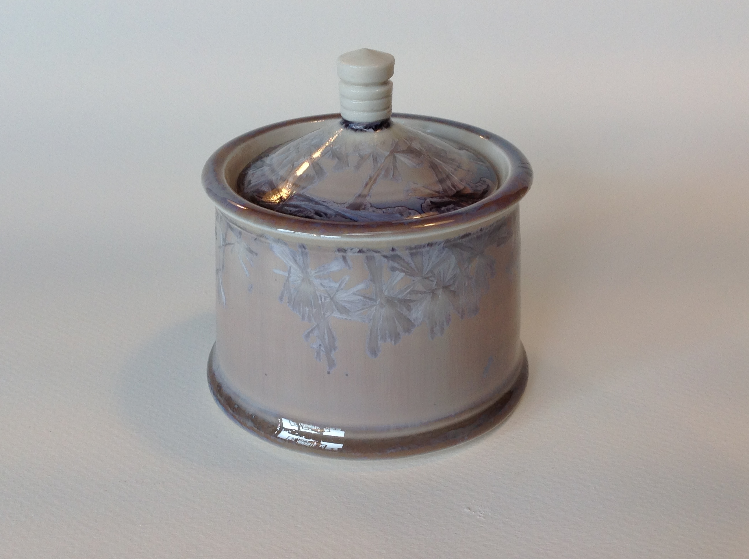 small crystalline jar