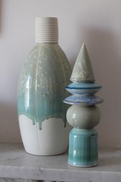 Crystal glazed vessel & tower